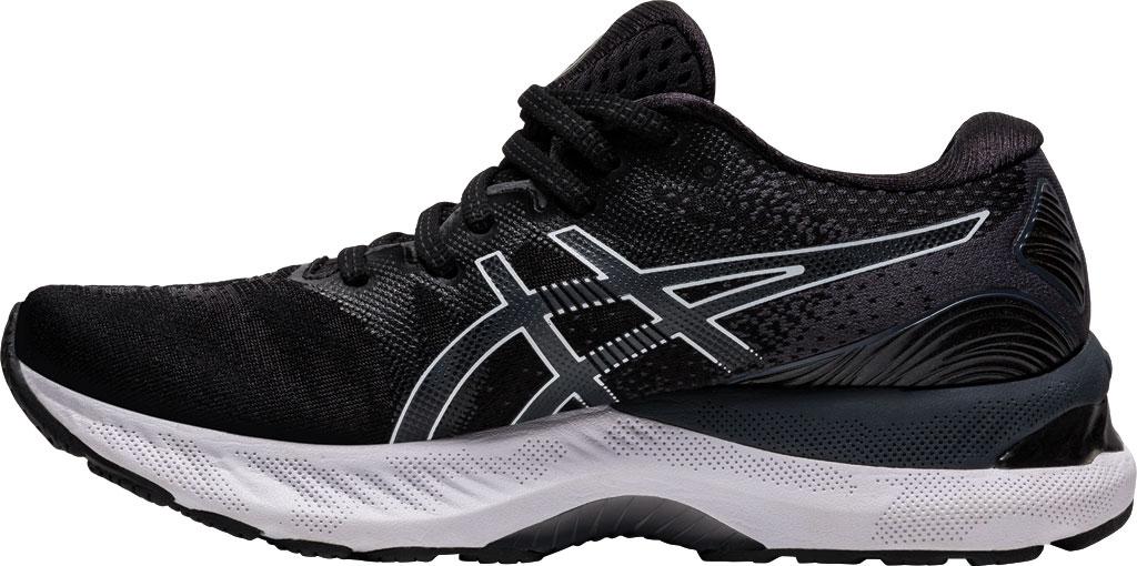 Women's ASICS GEL-Nimbus 23 Running Sneaker, Black/White, large, image 3