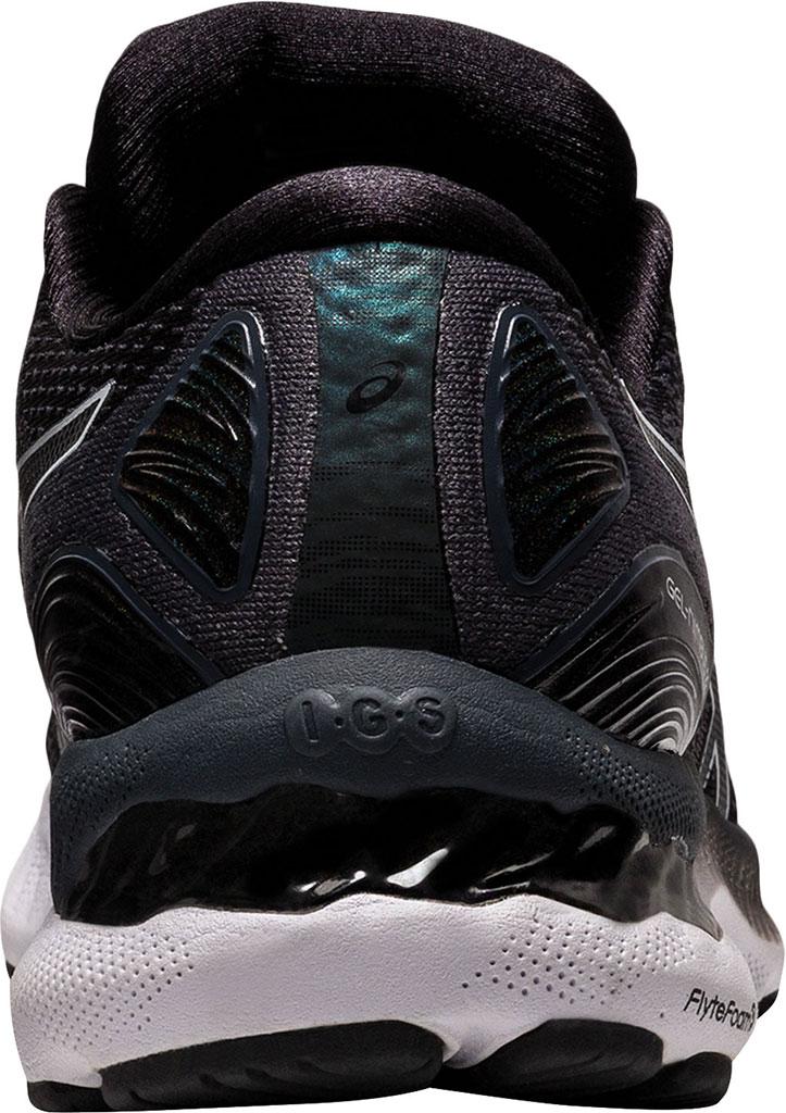 Women's ASICS GEL-Nimbus 23 Running Sneaker, Black/White, large, image 4