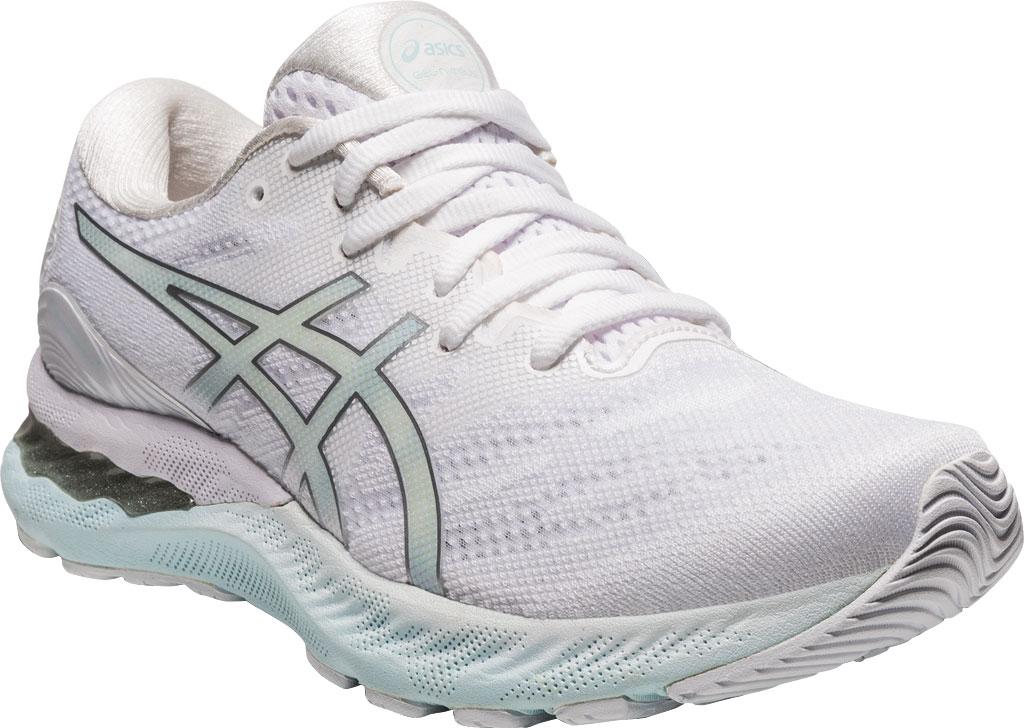 Women's ASICS GEL-Nimbus 23 Running Sneaker, White/Pure Silver, large, image 1