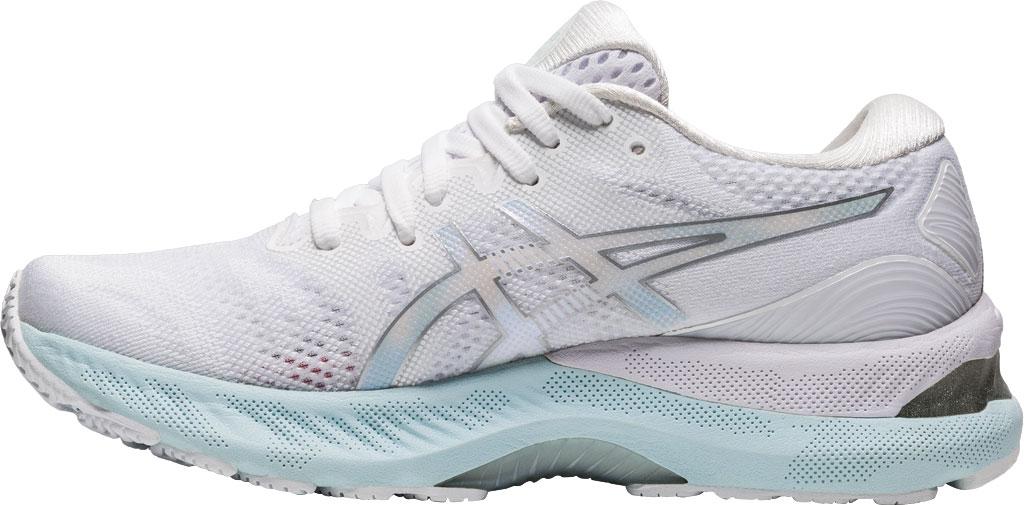 Women's ASICS GEL-Nimbus 23 Running Sneaker, White/Pure Silver, large, image 3