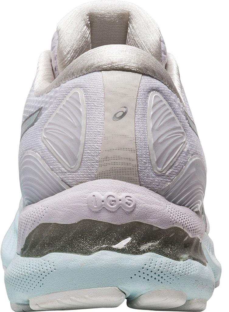 Women's ASICS GEL-Nimbus 23 Running Sneaker, White/Pure Silver, large, image 4