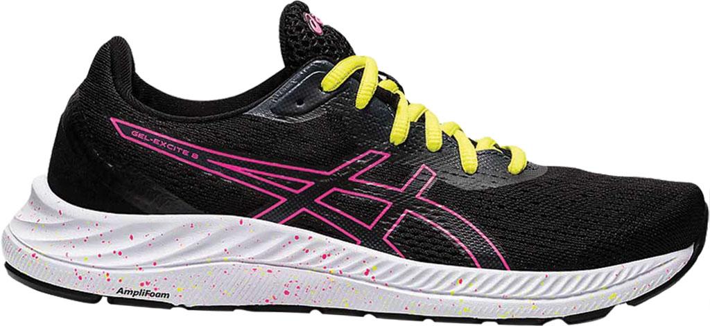 Women's ASICS GEL-Excite 8 Running Sneaker, Black/Hot Pink, large, image 1