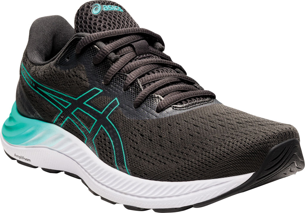 Women's ASICS GEL-Excite 8 Running Sneaker, Black/Baltic Jewel, large, image 1