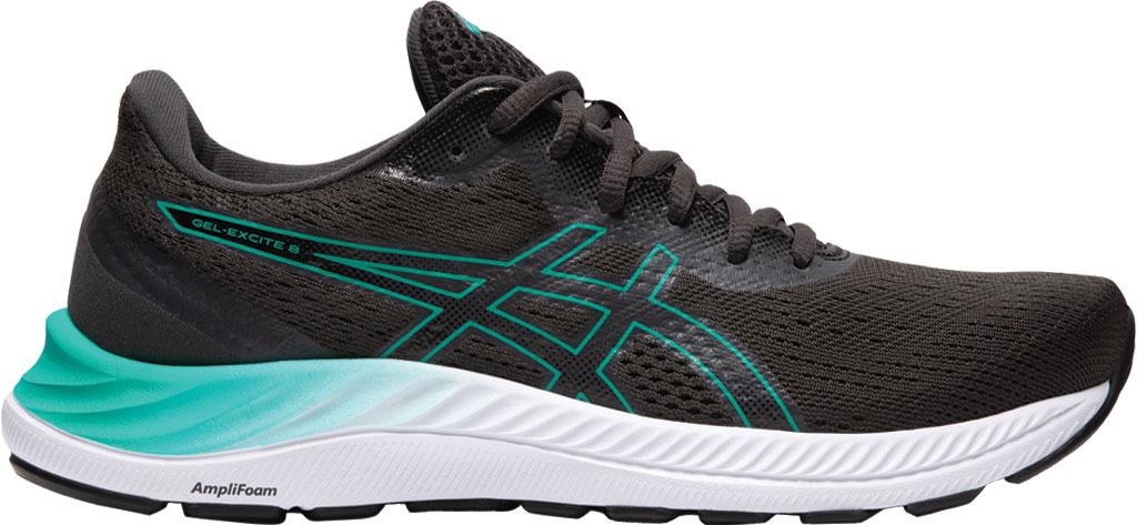 Women's ASICS GEL-Excite 8 Running Sneaker, Black/Baltic Jewel, large, image 2