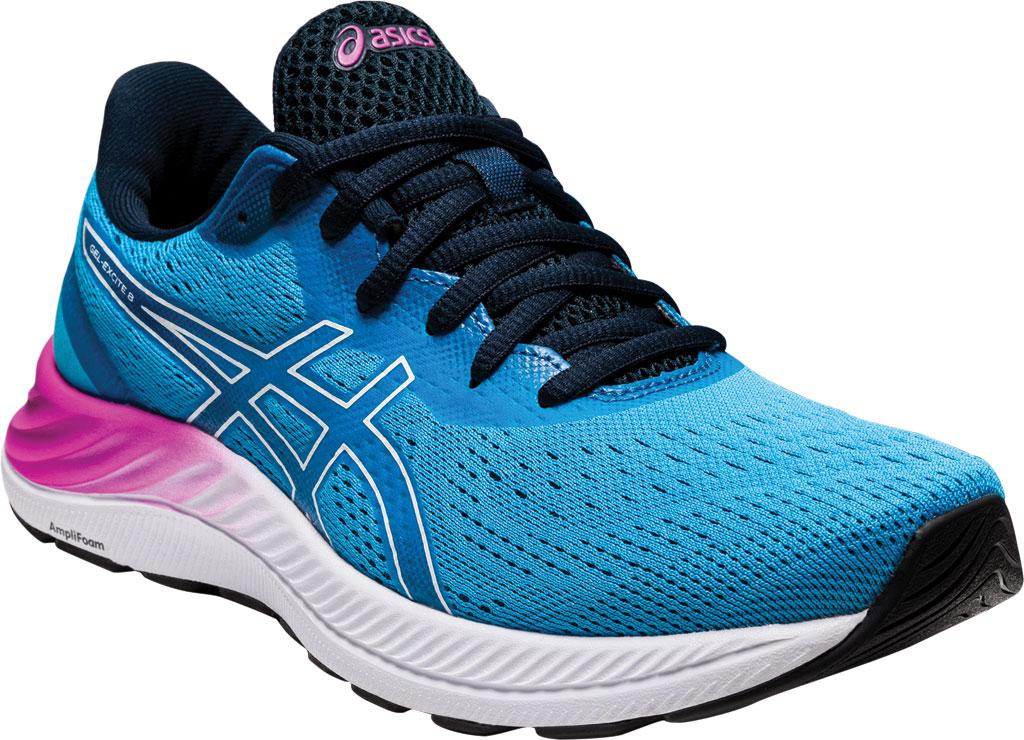 Women's ASICS GEL-Excite 8 Running Sneaker, Digital Aqua/White, large, image 1