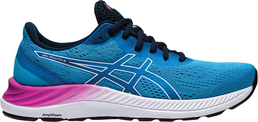 Women's ASICS GEL-Excite 8 Running Sneaker, Digital Aqua/White, large, image 2