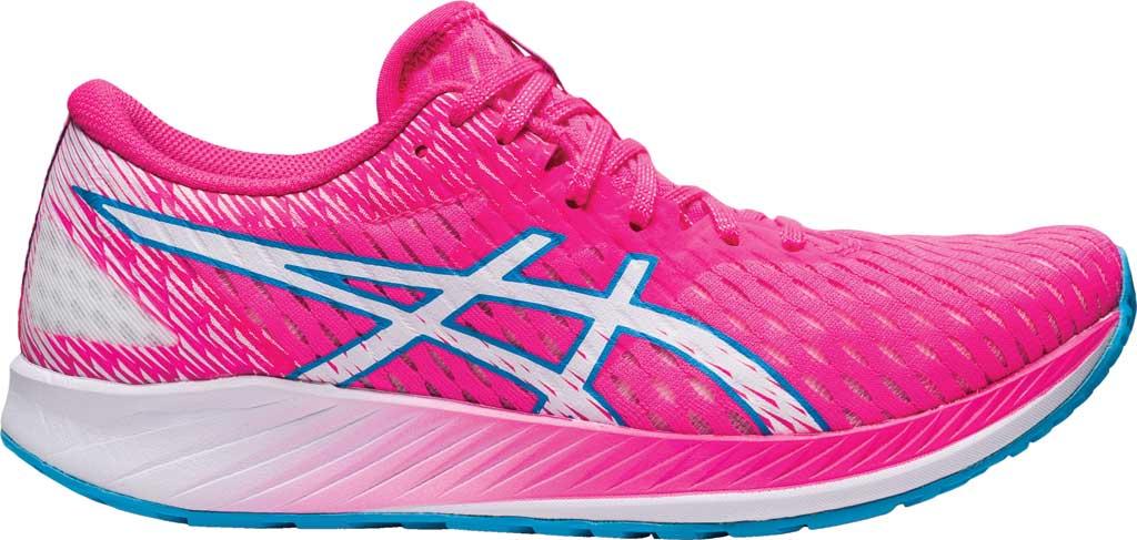 Women's ASICS Hyper Speed Running Sneaker, Hot Pink/White, large, image 2