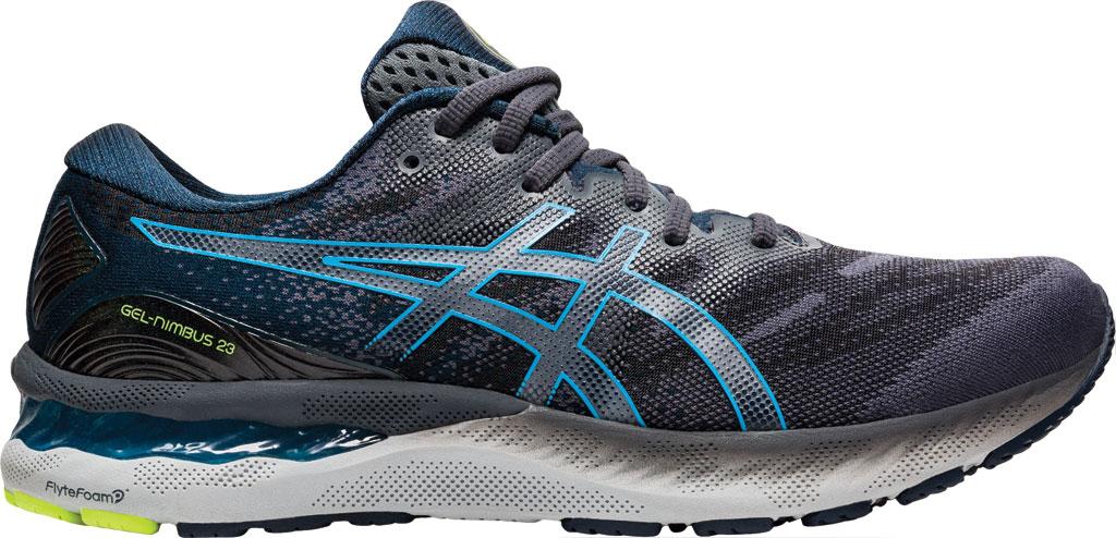 Men's ASICS GEL-Nimbus 23 Running Sneaker, Carrier Grey/Digital Aqua, large, image 2