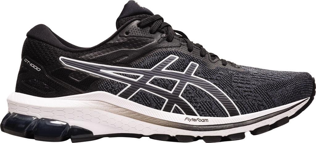 Women's ASICS GT-1000 10 Running Sneaker, Black/White, large, image 2