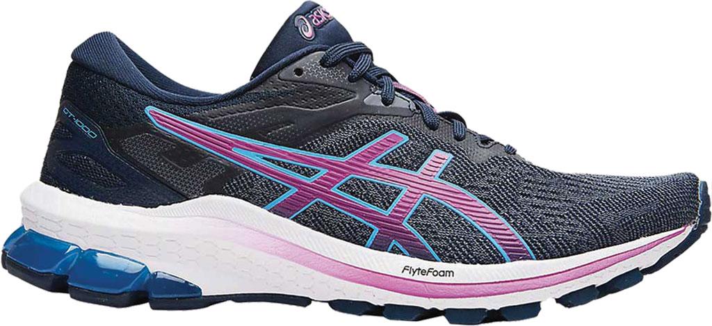 Women's ASICS GT-1000 10 Running Sneaker, French Blue/Digital Grape, large, image 1