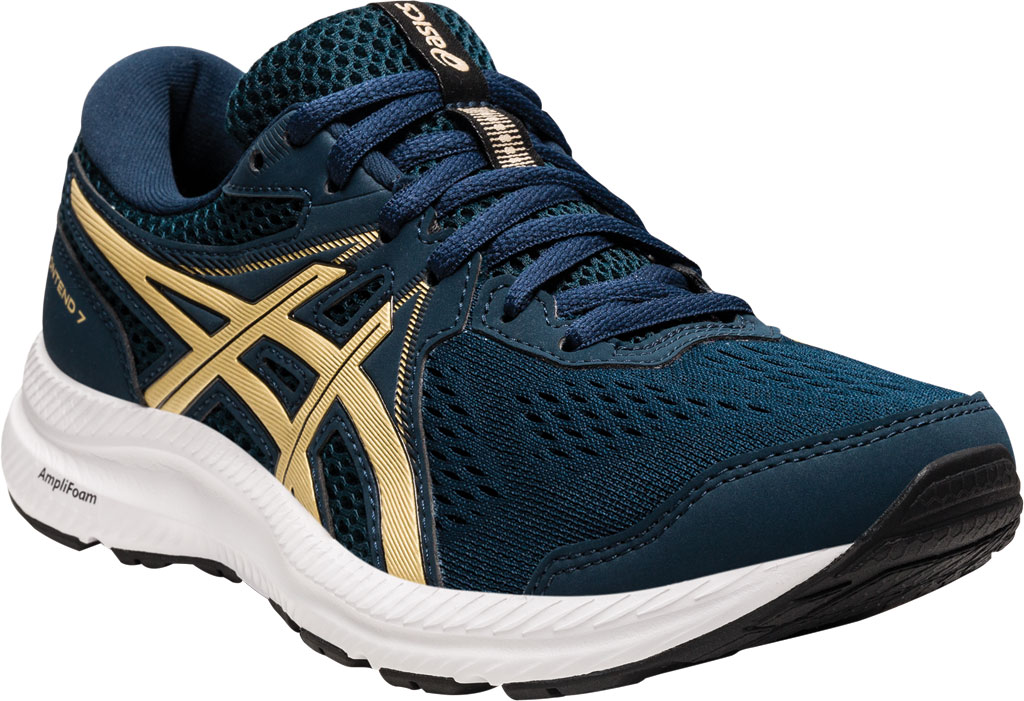 Women's ASICS GEL-Contend 7 Running Sneaker, French Blue/Champagne, large, image 1