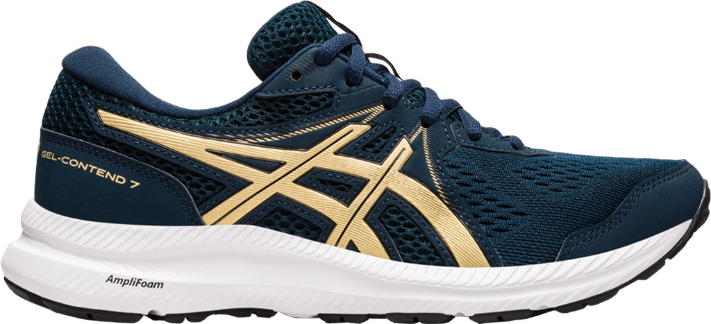 Women's ASICS GEL-Contend 7 Running Sneaker, French Blue/Champagne, large, image 2