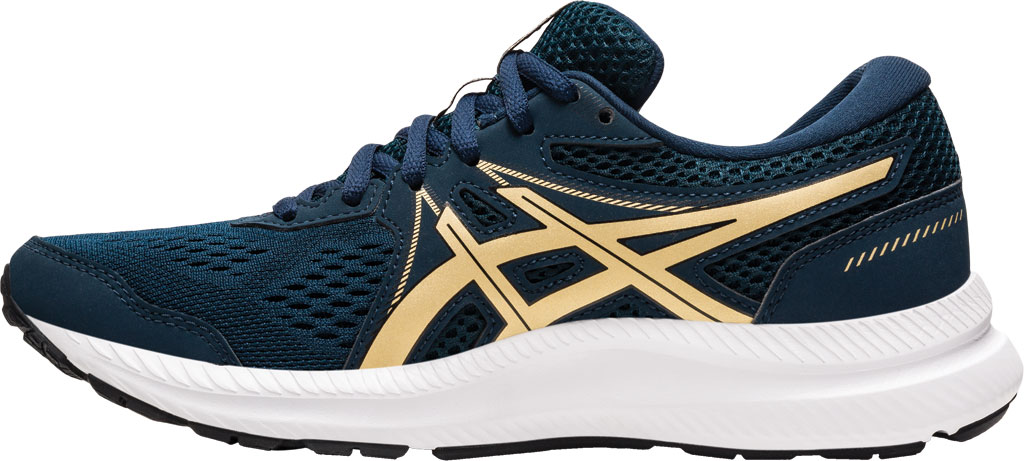 Women's ASICS GEL-Contend 7 Running Sneaker, French Blue/Champagne, large, image 3