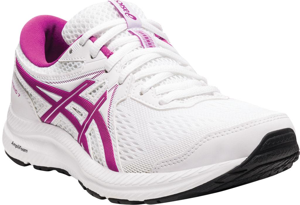 Women's ASICS GEL-Contend 7 Running Sneaker, White/Digital Grape, large, image 1