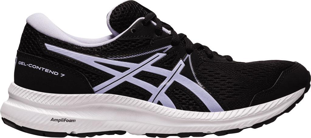 Women's ASICS GEL-Contend 7 Running Sneaker, Black/Lilac Opal, large, image 2