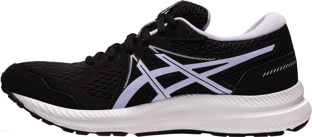 Women's ASICS GEL-Contend 7 Running Sneaker, Black/Lilac Opal, large, image 3