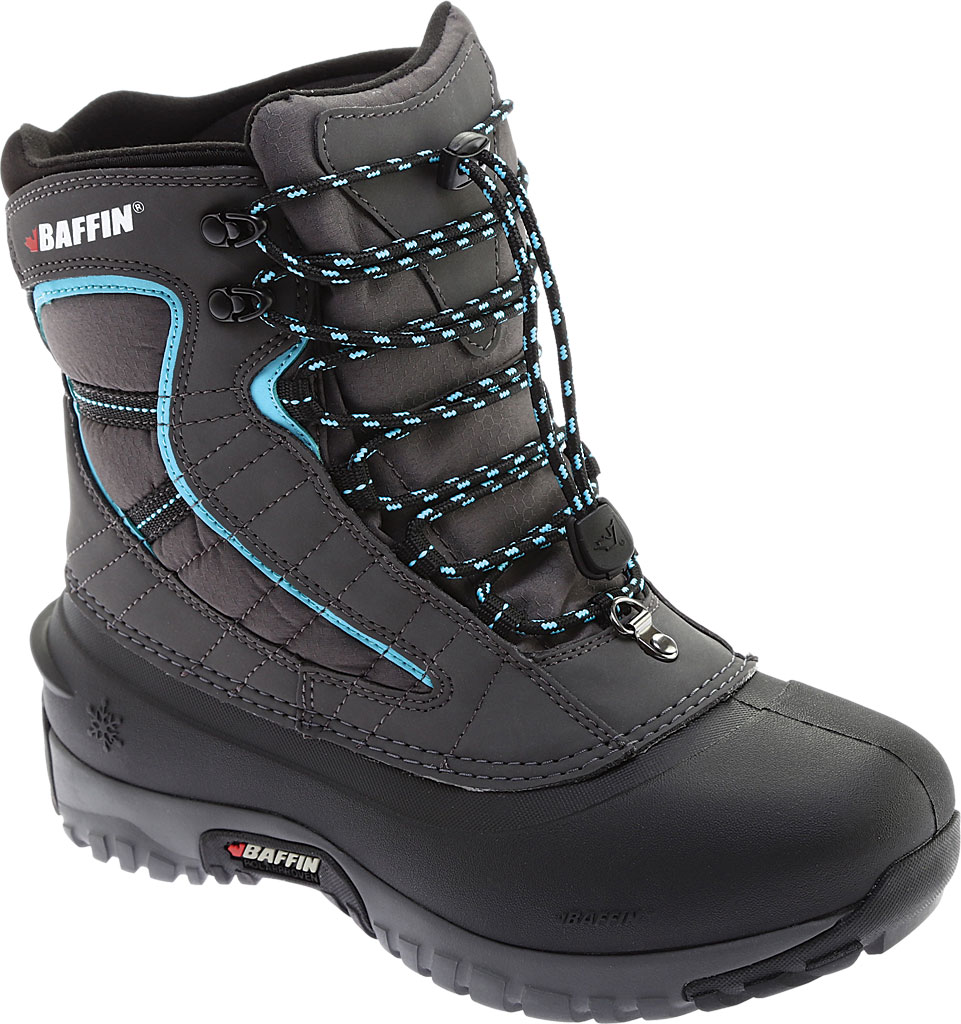 Women's Baffin Sage Snow Boot, Charcoal/Teal, large, image 1