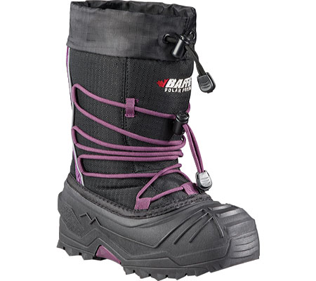 Children's Baffin Young Snogoose Snow Boot, Black/Plum, large, image 1