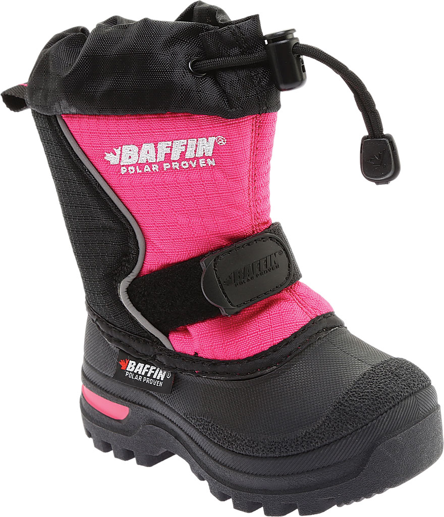 Infant Baffin Mustang Snow Boot, Black/Hyper Berry, large, image 1