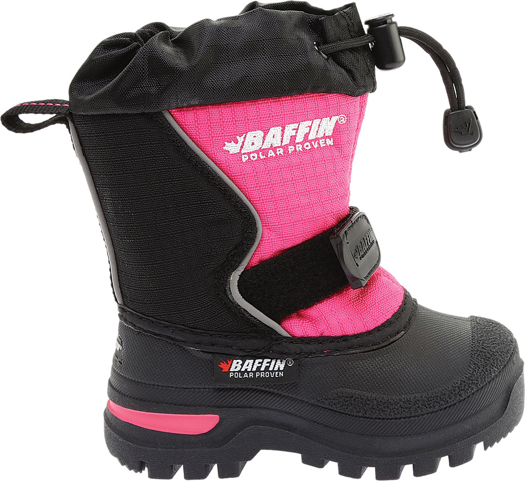 Infant Baffin Mustang Snow Boot, Black/Hyper Berry, large, image 2