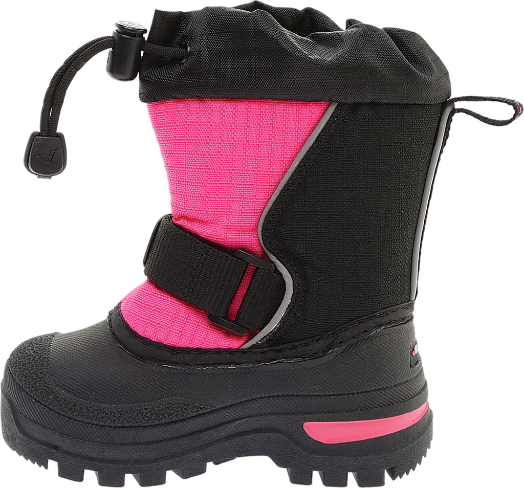 Infant Baffin Mustang Snow Boot, Black/Hyper Berry, large, image 3