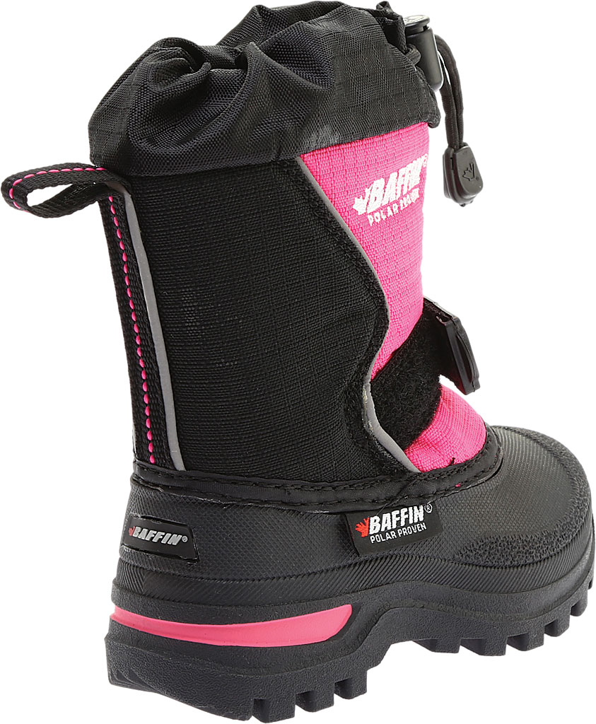 Infant Baffin Mustang Snow Boot, Black/Hyper Berry, large, image 4
