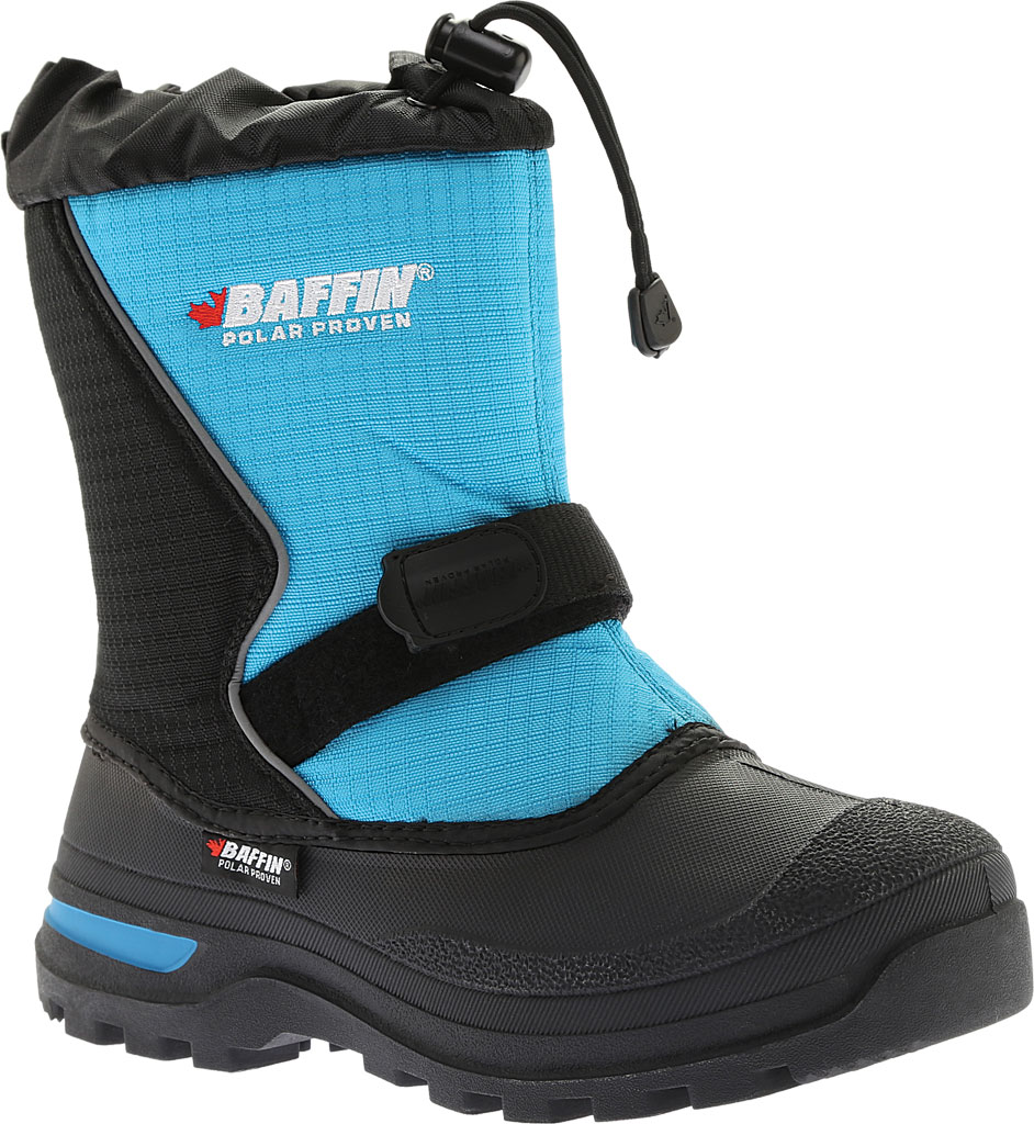 Infant Baffin Mustang Snow Boot, Black/Electric Blue, large, image 1