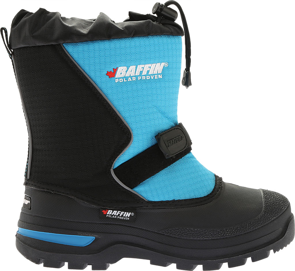 Infant Baffin Mustang Snow Boot, Black/Electric Blue, large, image 2