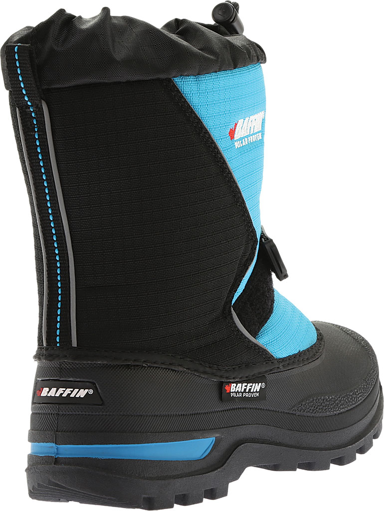 Infant Baffin Mustang Snow Boot, Black/Electric Blue, large, image 4