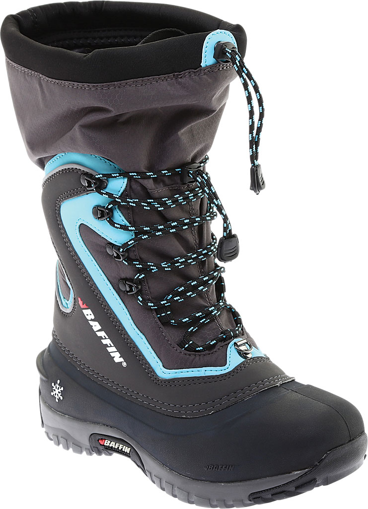 Women's Baffin Flare Snow Boot, Charcoal/Teal, large, image 1