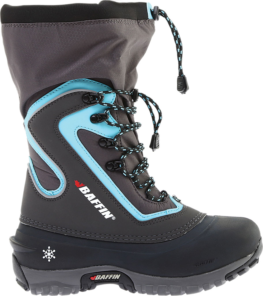 Women's Baffin Flare Snow Boot, Charcoal/Teal, large, image 2