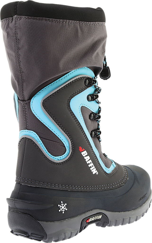 Women's Baffin Flare Snow Boot, Charcoal/Teal, large, image 4