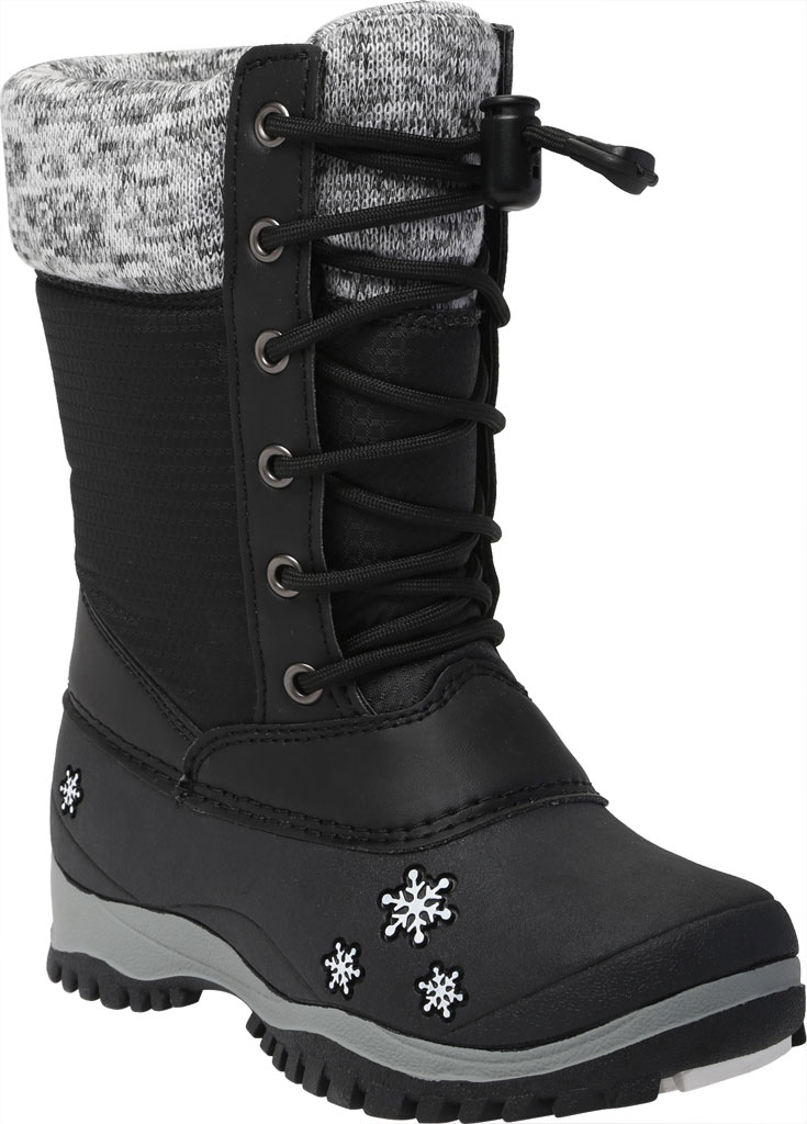 Girls' Baffin Avery Snow Boot Youth, Black, large, image 1