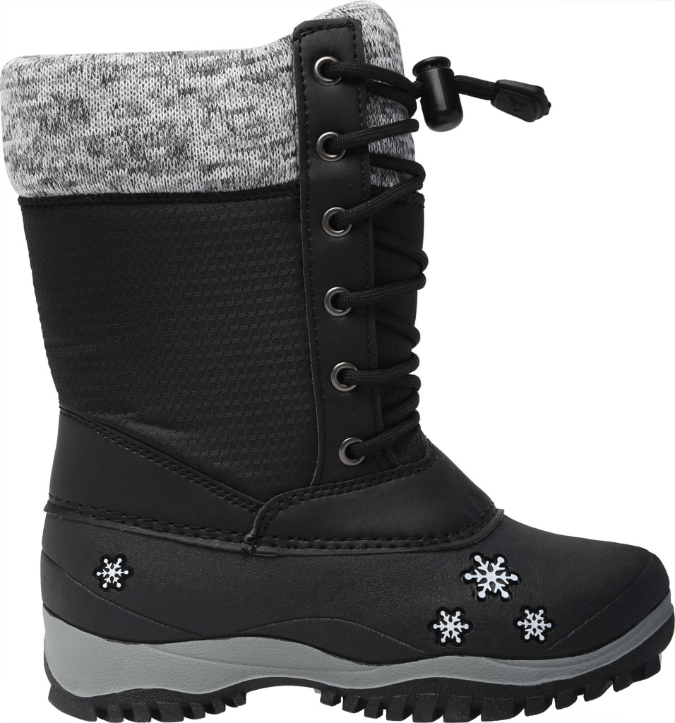 Girls' Baffin Avery Snow Boot Youth, Black, large, image 2