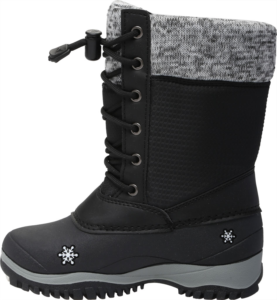 Girls' Baffin Avery Snow Boot Youth, Black, large, image 3