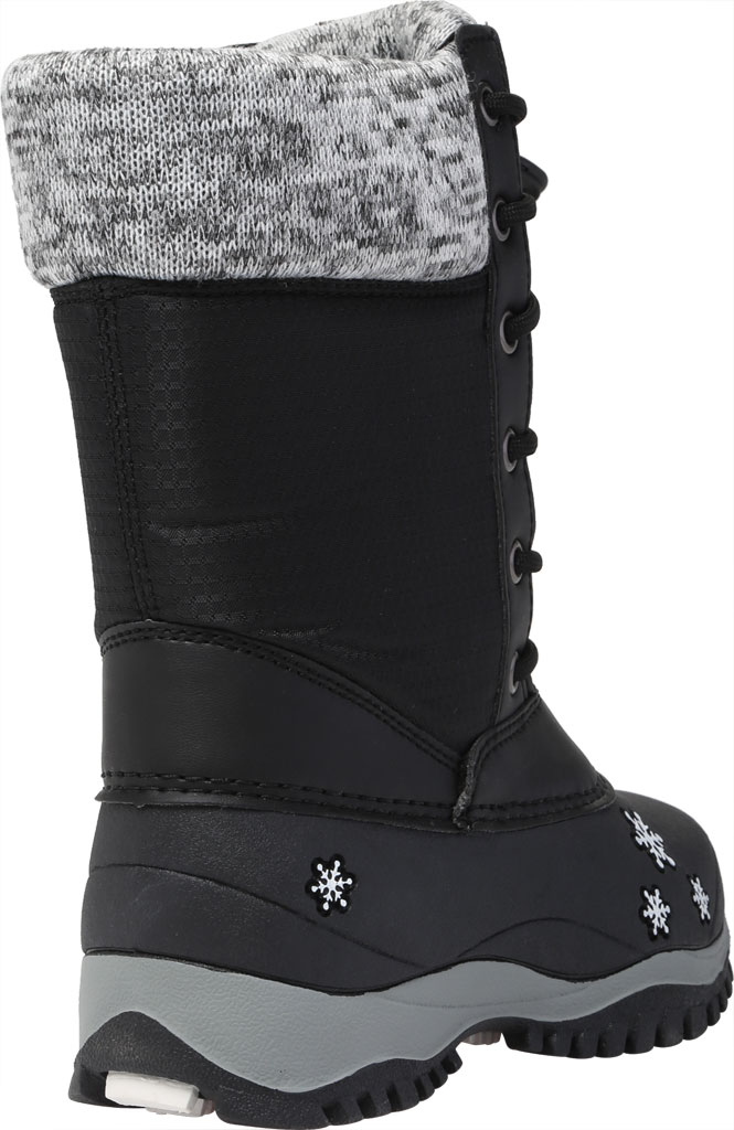 Girls' Baffin Avery Snow Boot Youth, Black, large, image 4
