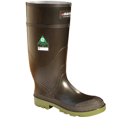 """Men's Baffin Petrolia 15"""" Safety Toe and Plate Waterproof Boot, Black/Green, large, image 1"""