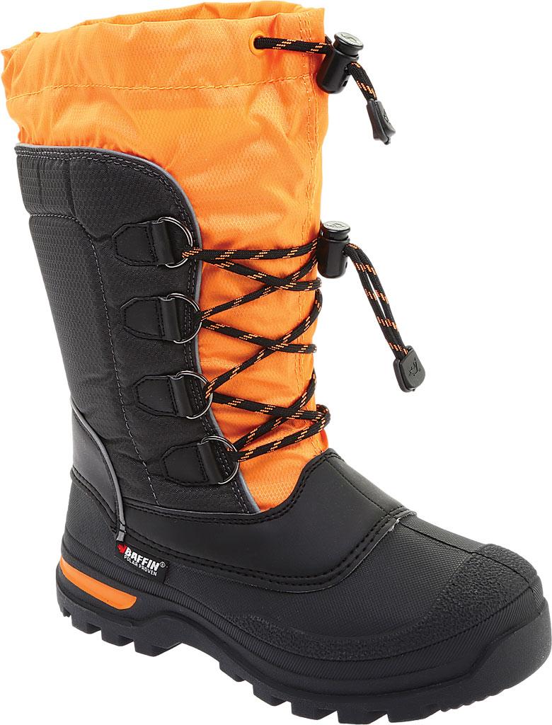 Boys' Baffin Pinetree Snow Boot Juniors, Charcoal/Orange, large, image 1