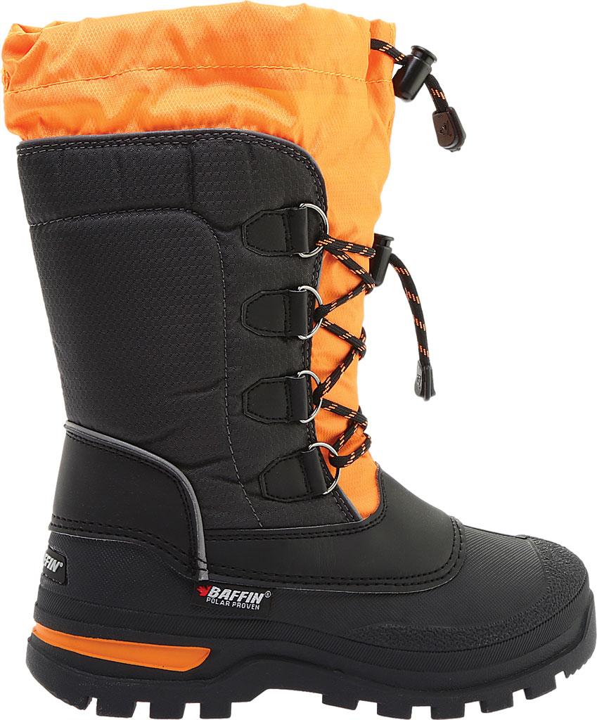 Boys' Baffin Pinetree Snow Boot Juniors, Charcoal/Orange, large, image 2