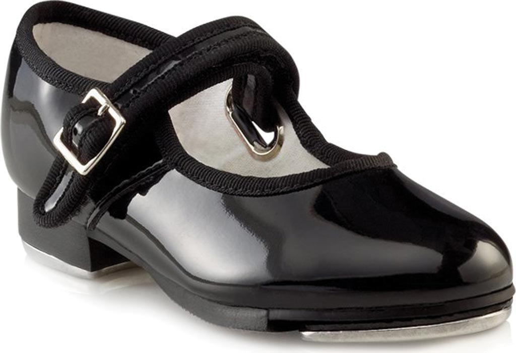 Girls' Capezio Dance Mary Jane 3800C, Black Patent, large, image 1