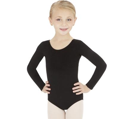 Girls' Capezio Dance Long Sleeve Leotard TB134C (Set of 2), Black, large, image 1