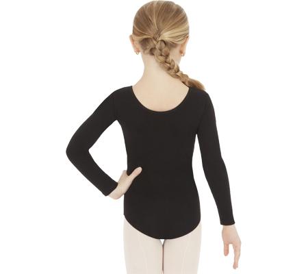 Girls' Capezio Dance Long Sleeve Leotard TB134C (Set of 2), Black, large, image 2