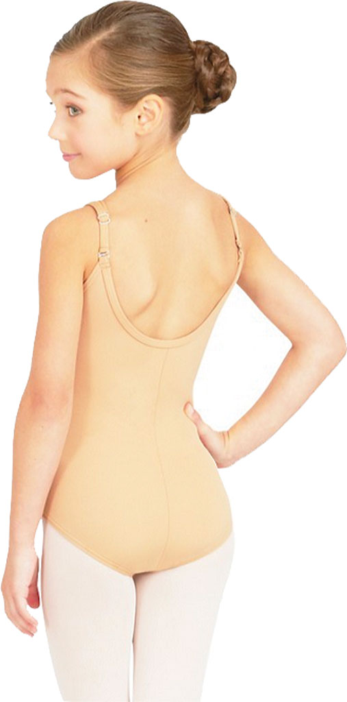 Girls' Capezio Dance Camisole Leotard with Adjustable Straps, Nude, large, image 1