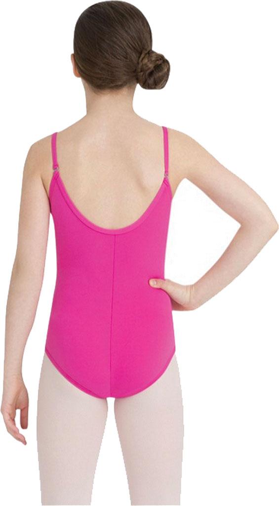Girls' Capezio Dance Camisole Leotard with Adjustable Straps, Hot Pink, large, image 2
