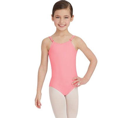 Girls' Capezio Dance Camisole Leotard with Adjustable Straps, Flamingo, large, image 1