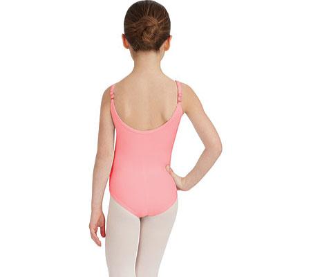 Girls' Capezio Dance Camisole Leotard with Adjustable Straps, Flamingo, large, image 2