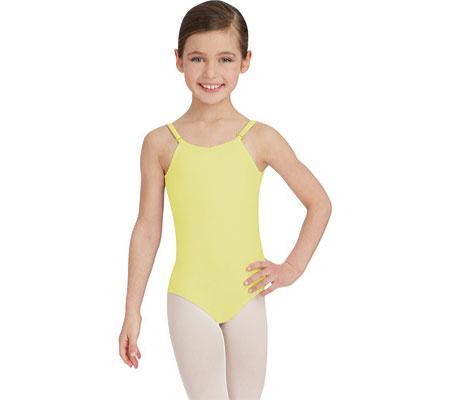 Girls' Capezio Dance Camisole Leotard with Adjustable Straps, Lemon Drop, large, image 1