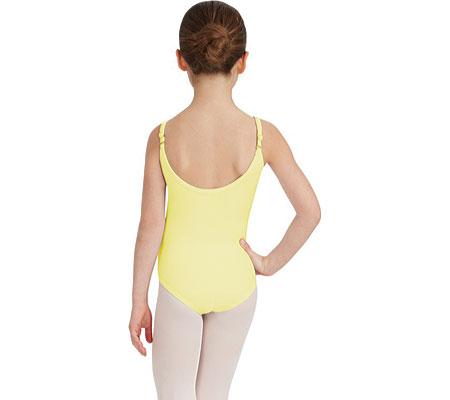 Girls' Capezio Dance Camisole Leotard with Adjustable Straps, Lemon Drop, large, image 2
