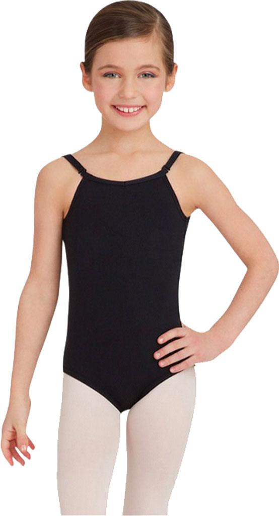 Girls' Capezio Dance Camisole Leotard with Adjustable Straps, Black, large, image 1