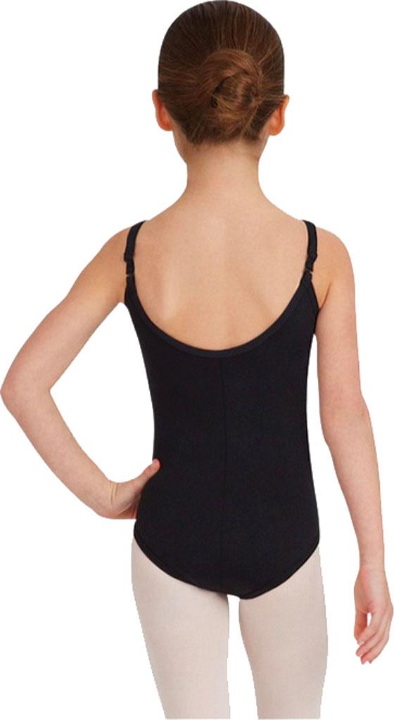 Girls' Capezio Dance Camisole Leotard with Adjustable Straps, Black, large, image 2